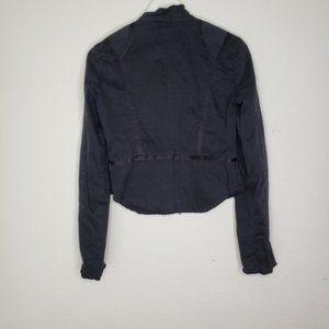 Joie Jackets & Coats - Joie Black Canvas Zipper Cuff Military Jac…